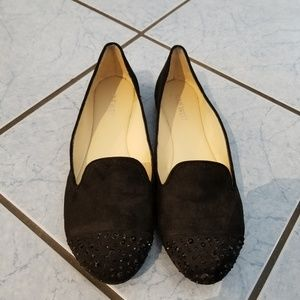 Nine West Suede, Rhinestones Flats